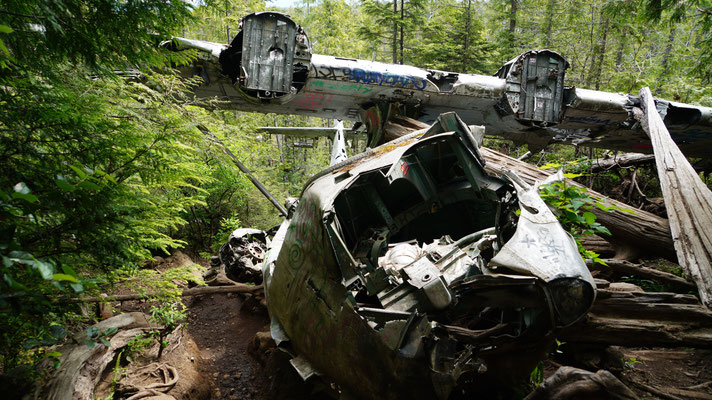abgestürzter Bomber der Royal Canadian Air Force