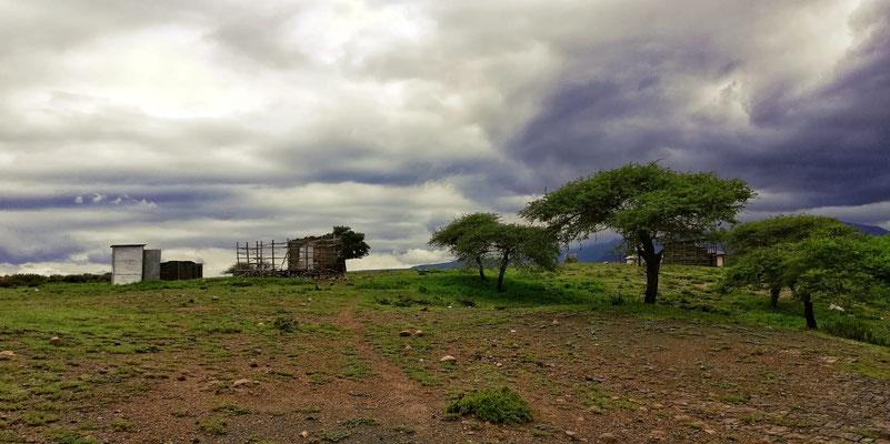 eingefallene Hütte in Keates Drift