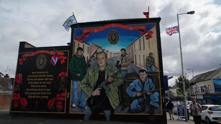 eines der Wandbilder auf der protestantischen Seite