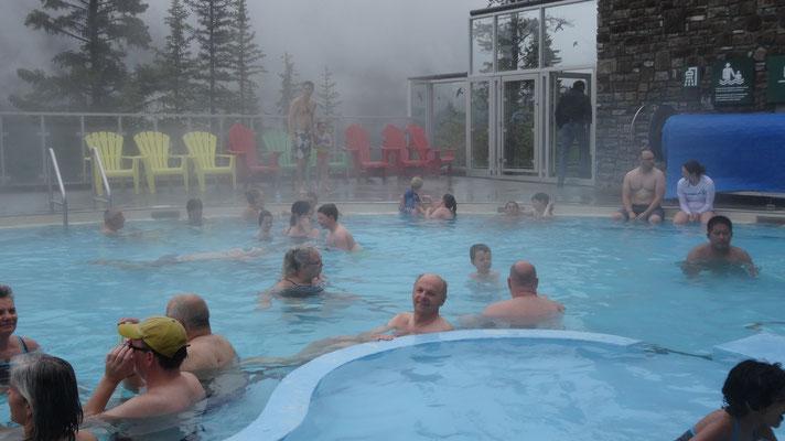 Erholung in den Upper Hot Springs