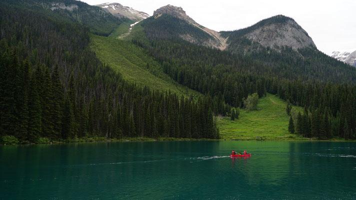 Kanufahrer auf dem Lake Louise