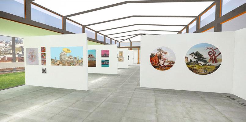 Más de 50 galerías, cada una con varias de sus obras