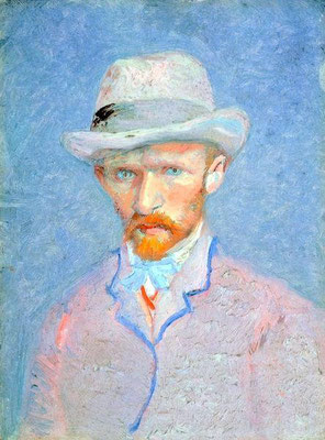 "Vincent van Gogh ""Self-portrait with Grey Felt Hat"""