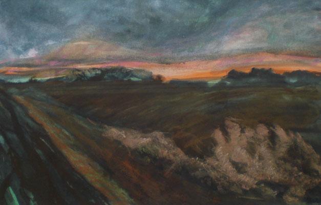Titel: Herbstabend, Maße:60x50 cm, Jahr: 1990, nicht verkäuflich.