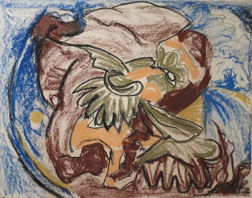 Titel: Don Quijote, Maße: 62x49 cm, Jahr: 1990