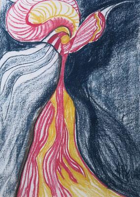 Titel: Tänzerin, Maße: 60x40 cm, Jahr: 1990