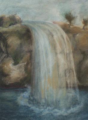 Titel: Wasserfall, Maße: 38x28 cm, Jahr: 2004
