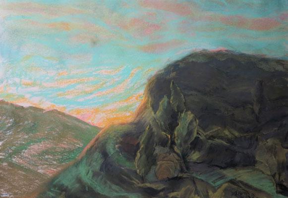 Titel: Aussicht vom Berg, Maße: 66x47 cm, Jahr: 1990