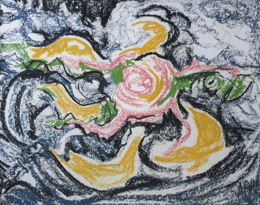 Titel: Gelbe Blüte: Maße: 61x48 cm,Jahr: 1990