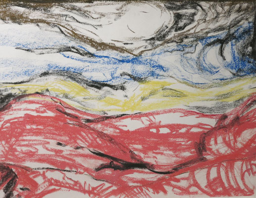 Titel: Rotes Meer, Maße: 63x48 cm, Jahr: 1990