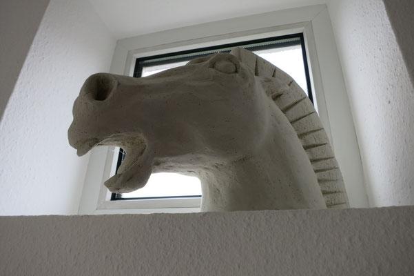 Titel: Pferdeschrei, Maße: 24x30 cm, Jahr: 2006