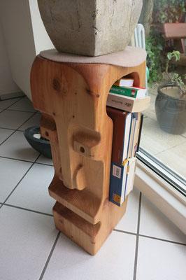 Titel: Holzkopf, Maße: 65x24x20 cm