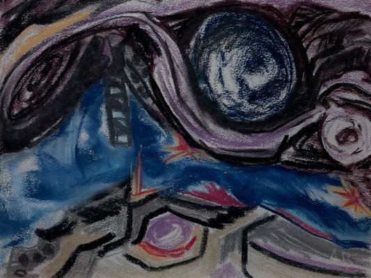 Titel: Galaxie, Maße: 47x36 cm, Jahr: 1990