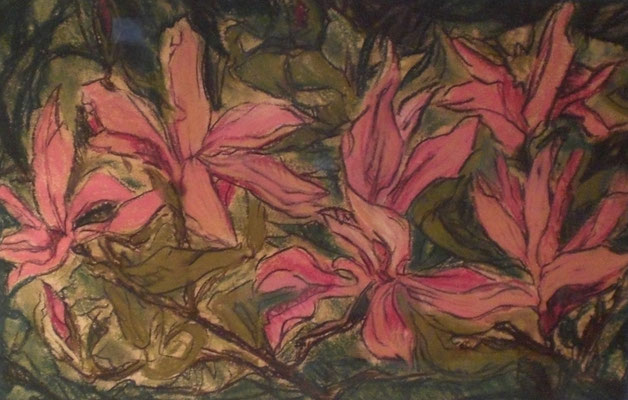 Titel: Magnolie, Maße: 56x35 cm, Jahr: 2005