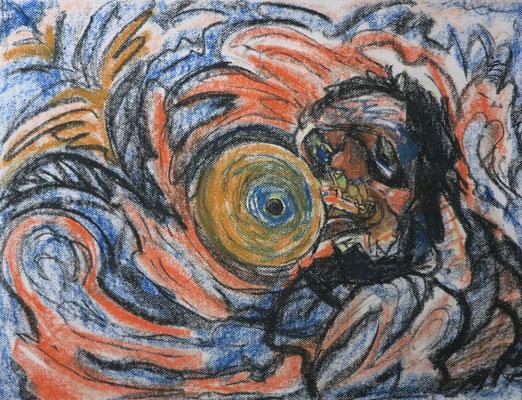 Titel: Trompetenspieler, Maße: 63x48 cm, Jahr: 1990