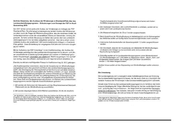 Vorstellungen der FDP zum Koalitionsvertrag