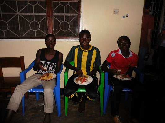 Jamali, Florence (Kapitän des FC Bukoba) und Richard