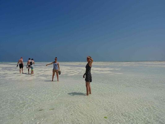 so weit das Auge reicht nur Meer und Sand!