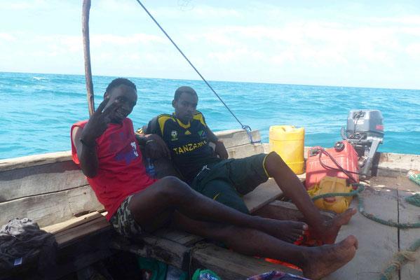 Unsere Guides beim Walhaischwimmen
