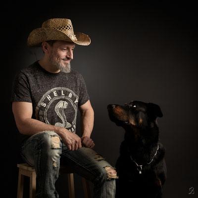 Photo chien et son maitre studio Martigues 13220