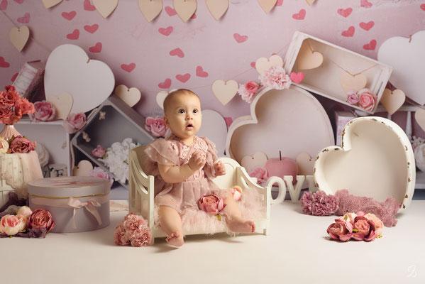 shooting bébé,  thème coeur