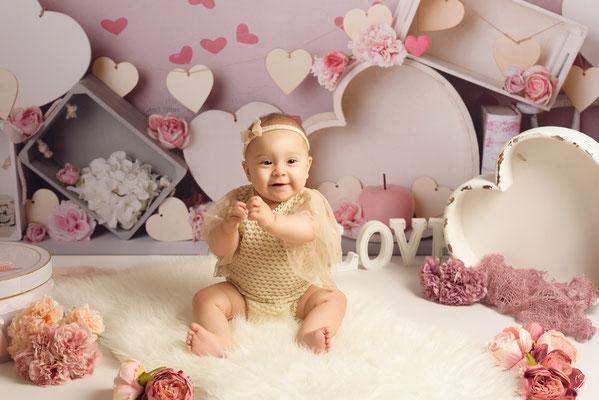 shooting bébé,  thème amourette