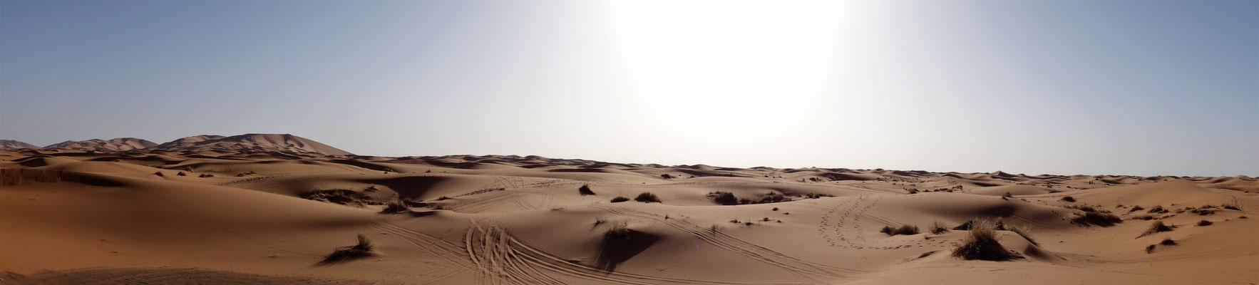 Panoramabild von der Sahara