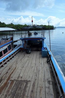 Das Boot von Koh Jum zum Festland
