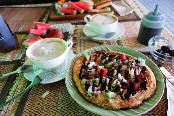 Frühstück in der Unterkunft