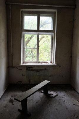 Fenster mit einer Bank