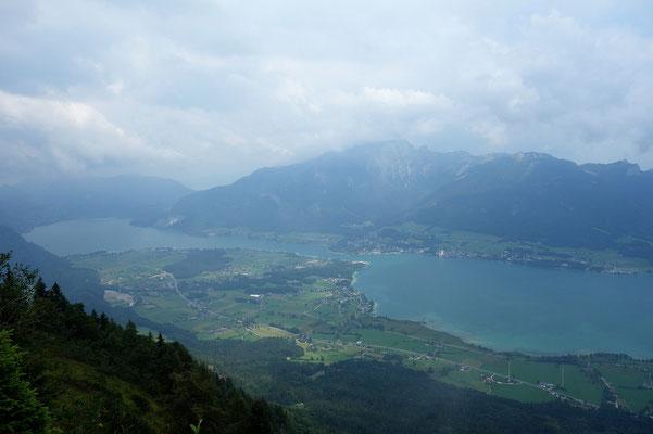 Sicht vom Gipfelkreuz ohne den Nebel