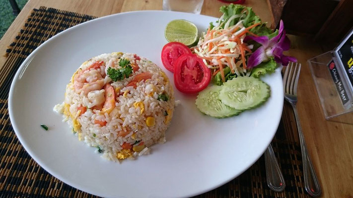 Reis mit Shrimps in Chiang Mai
