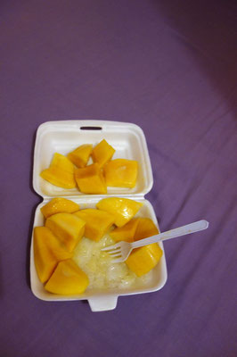 Sticky Rice with Mango in Bangkok