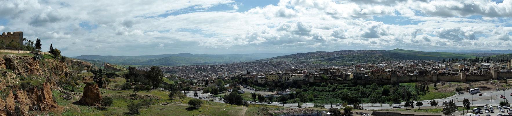 Medina von Fes vom Berg