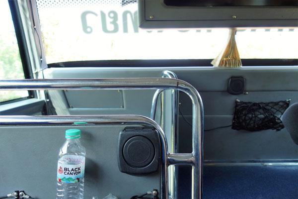 Im Bus von Surat Thani zum Pier