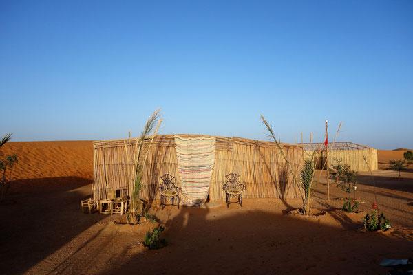 Unser Schlafplatz für die Wüstennacht