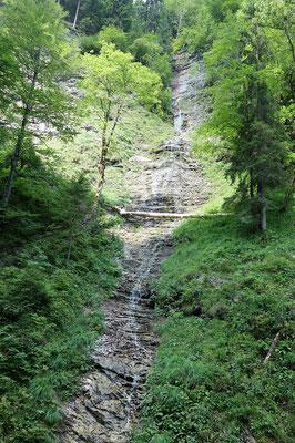 Eine kurze Rast am Wasserfall
