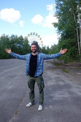 Ich beim Vergnügungspark