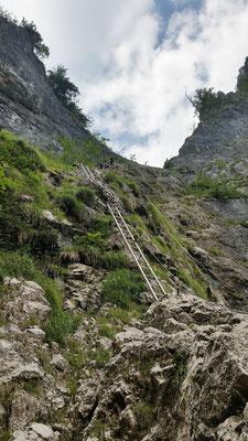 Der Einstieg des Klettersteig