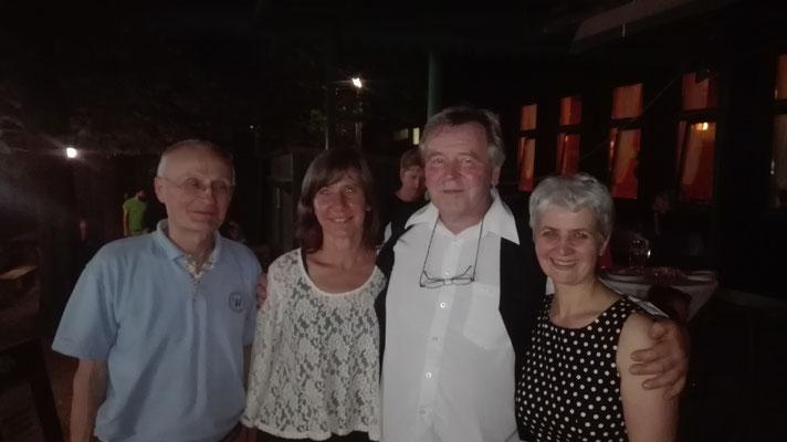 Mit Birgit Hebein (inzwischen Vizebürgermeisterin von Wien) bei einem Geburtstagsfest