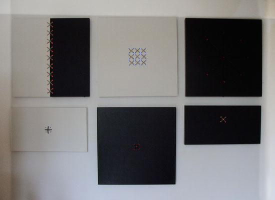 Serie big bang spirit, 80 x 80 x 6 cm, 2019, Variationen der Themen