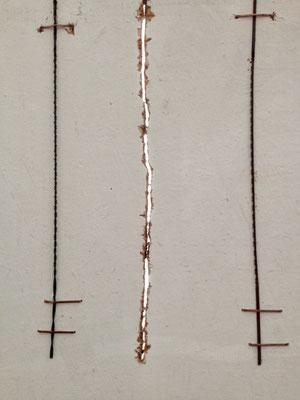 Werkzeugspur, erste Lichtlinie, 19,5cm x 23cm