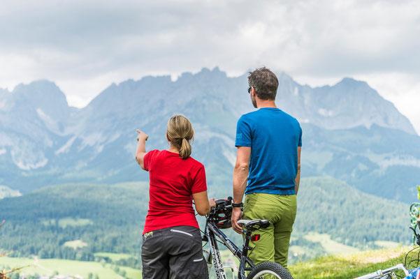 Herrliche Ausblicke bei einer Mountainbike Tour