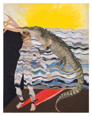 Georgina mit Krokodil, 2017