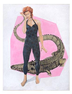 Stephanie mit Krokodil, 2018