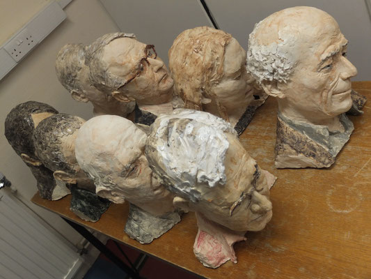 St Catherine's College, Oxford, Modelle zum Projekt: Heads in hedges