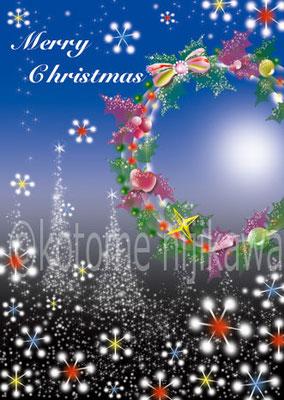クリスマスリース(イラストACにて配信中)