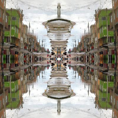 Extrañas Perspectivas. Fotografía digital. 50 cm X 50 cm. 2010.