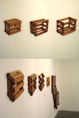 """Instalación de """"No es lo que estás pensando"""" en el Museo de Arte Contemporaneo de Bogotá."""
