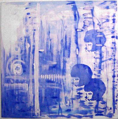 """o.T."", Acryl auf Leinwand [2004], 100 x 100 cm"